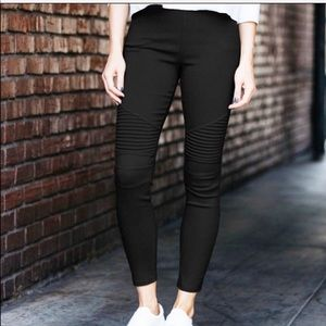 New Black Moto Pants